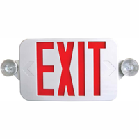 LED Exit And Lamp Heads Combo Sign