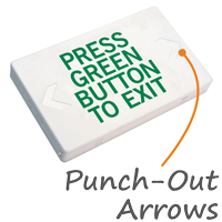 Press Green Button to Exit LED with Battery Backup