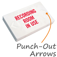 Recording Room In Use Exit Sign with Battery