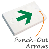 Right Arrow Symbol LED Exit Sign with Battery Backup