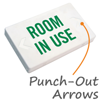 Room In Use LED Exit Sign with Battery Backup