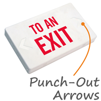 To An Exit LED Exit Sign with Battery Backup