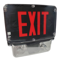 12W Wet Location LED Combo Exit Sign