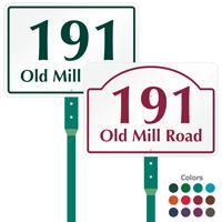 Custom House Number Street Name LawnPuppy Sign Stake Kit