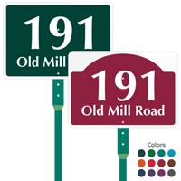 Add House Number Street Name Custom Sign Stake Kit