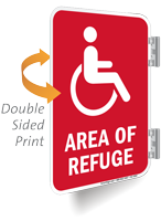 Area Of Refuge Double Sided Metal Sign