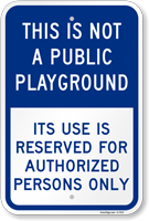Authorized Persons Only Sign
