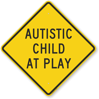 Autistic Child At Play Sign
