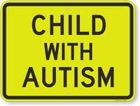 Child With Autism Sign