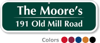 Custom Address Sign with Name House Number and Street