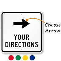 Custom Directional Arrow Sign
