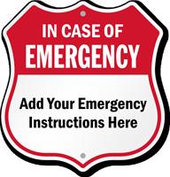 Custom Emergency 911 Phone Shield Sign