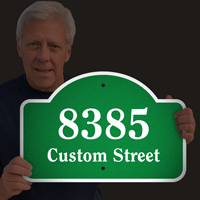 Custom Street Name and Number Reflective Dome Top Sign