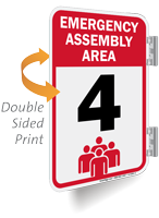 Emergency Assembly Area Number Four Sign