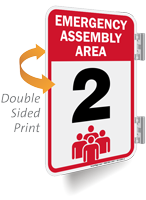 Emergency Assembly Area Number Two Sign