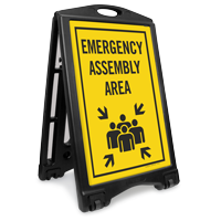 Emergency Assembly Area Sidewalk Sign