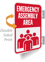 Emergency Assembly Area Sign