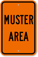 Emergency Muster Area Sign