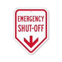 Emergency Shut-Off With Down Arrow Sign