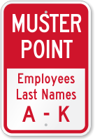 Assembly Area Employees Name A-K Sign