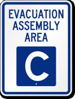 Emergency Evacuation Assembly Area C Sign