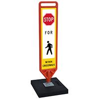 FlexPost Stop Pedestrian Crosswalk Paddle Portable