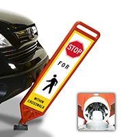 FlexPost Stop Pedestrian Crosswalk Paddle