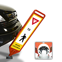 FlexPost Yield Pedestrian Crosswalk Paddle
