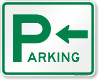 Directional Parking Sign (arrow pointing left)