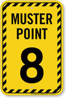 Muster Point Number Eight Sign