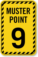 Muster Point Number Nine Sign