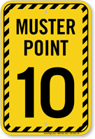 Muster Point Number Ten Sign0
