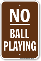 No Ball Playing No Loitering Sign