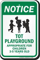 Notice Tot Playground Sign