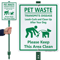 Keep This Area Clean with Graphic Sign