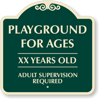 Playground For Ages Custom Playground Sign