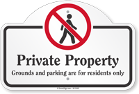 Private Property Parking Dome Top Sign