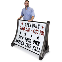 QLA Quick-Load Roadside Standard Sign Holder