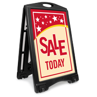 Sale Today Portable A-Frame Sidewalk Sign Kit