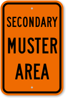 Secondary Muster Area Sign