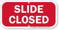 Slide Closed Playground Sign