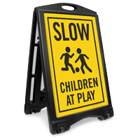 Children Playing Football Sidewalk Sign Kit