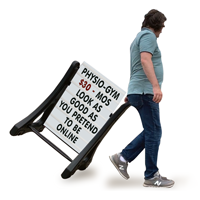 Standard Portable Rolling Swinger Sidewalk Sign