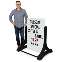 Standard XL-Swinger® Sidewalk Sign - White