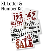 Letter And Number Kit For XL White Message Boards