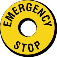 Emergency Stop Ring Label