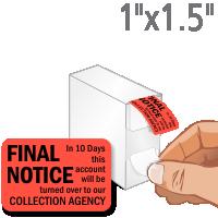 Final Notice Label Dispenser