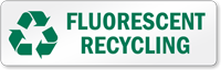 Fluorescent Recycling Recycling Label
