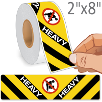 Heavy No Lifting Labels with Symbol Roll