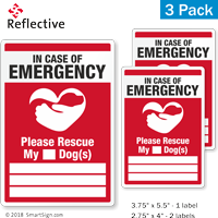 In Case Of Emergency Please Rescue My Dog Label Set